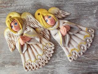 Aniołki z masy solnej.