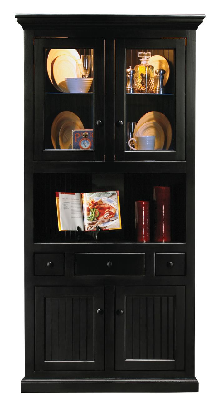 Exceptional Coastal Corner China Cabinet