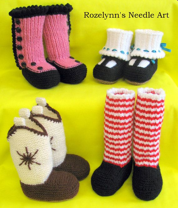 Knitted Baby Booties....The Designer Booties Series....PDF Patterns