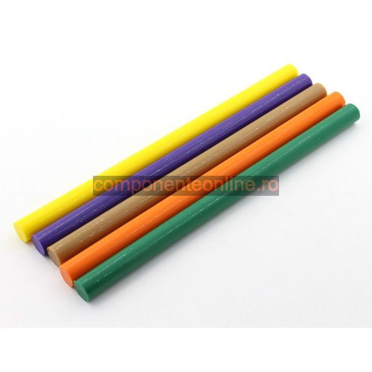 Bare silicon colorate, 5 culori, 11mm, 30cm - 400792