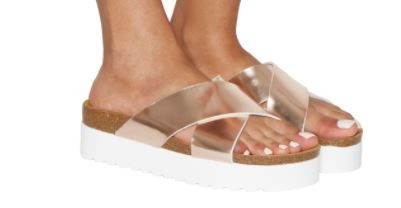 Office Warner Platform Sandles Rose Gold £32
