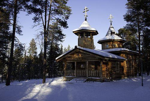 Skolt Sámi Church of Saint Tryphon of Pechenga (Petsamo), Nellim, Finnish Lapland by Voimäki