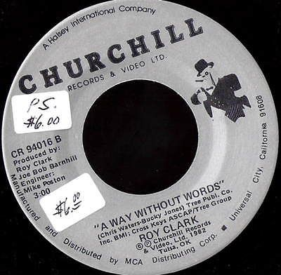 ROY CLARK Christmas wouldn't be Christmas without You 45 RECORD CHURCHILL