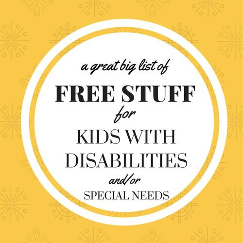 Free Stuff for kids with disabilities and or special needs