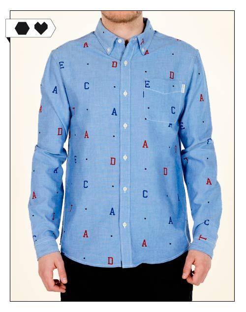 Dedicated Hemd aus 100% Organic Cotton. Fair hergestellt. Mit Buchstaben Print- Mehr Fair Fashion gibt's auf dem Modeblog sloris - slow down and fashion up!