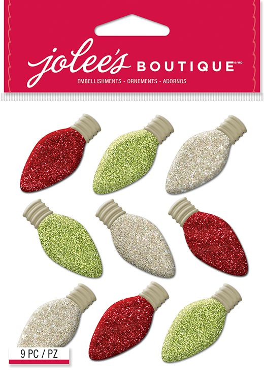 EK+Success+-+Jolee's+Boutique+-+Christmas+-+3+Dimensional+Stickers+-+Christmas+Bulbs+Repeats+at+Scrapbook.com