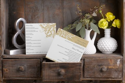 Square Wedding Programs - Antique Filigree | MagnetStreet