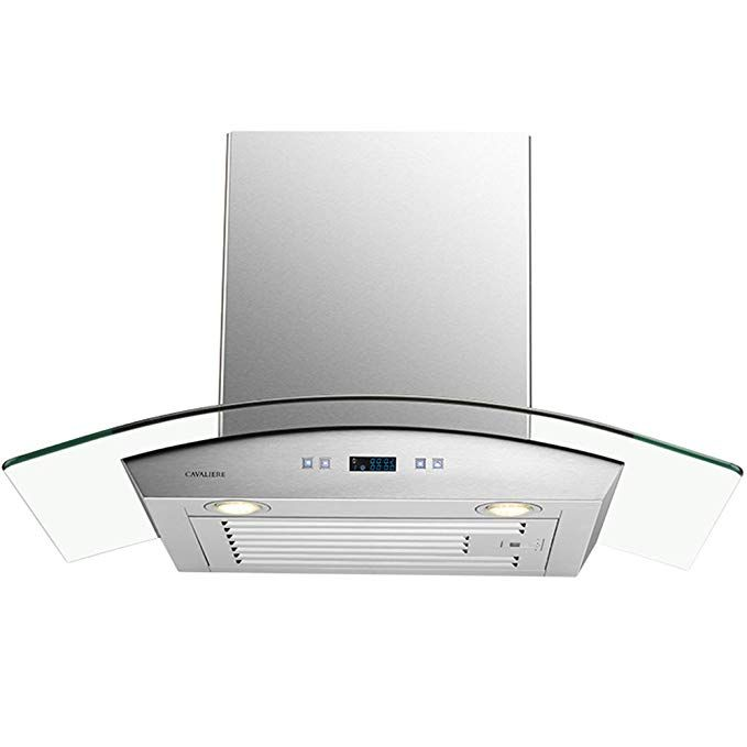 Cavaliere 30 Wall Mounted Stainless Steel Glass Kitchen Range Hood 900 Cfm Sv218d 30 Review Kitchen Range Hood Glass Kitchen Range Hood