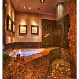 LoveOpen Shower, Bathroom Design, Rain Shower, Dream Bathrooms, Dreams House, Dreams Bathroom, Amazing Bathroom, Master Bathroom, Design Bathroom