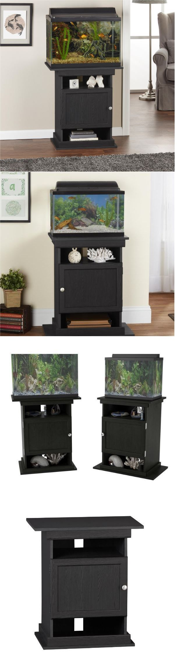 Aquariums and Tanks 20755: Aquarium Stand 20 Gallon 10 Fish Tank Black Turtle Hamster Accessories Black -> BUY IT NOW ONLY: $111.99 on eBay!