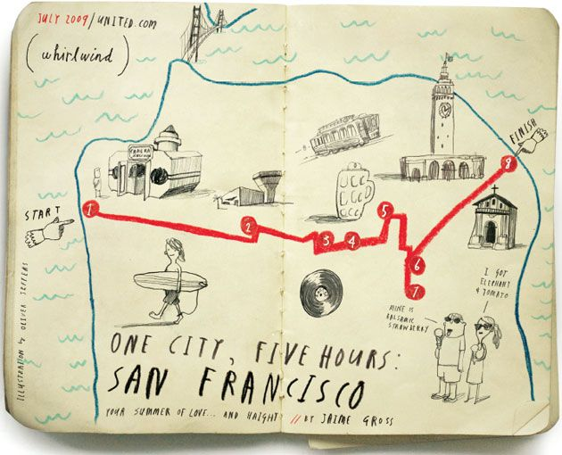 Hand-Drawn City Maps That Outline Short Tours for Visitors
