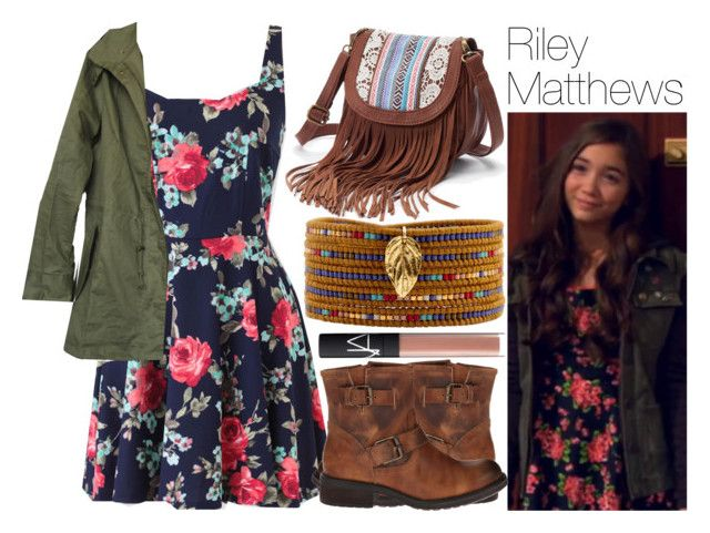 """""""Riley Matthews"""" by quirkynerdygeeky ❤ liked on Polyvore featuring Mudd, Steve Madden, Chan Luu and NARS Cosmetics"""
