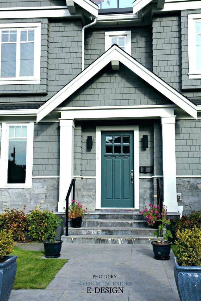 Image Result For Grey House Teal Shutter Exterior Paint