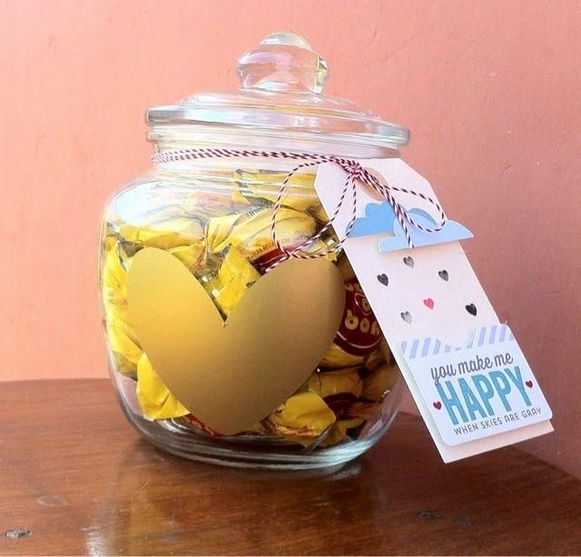 Proyecto Día de los enamorados- DIY Dulcero con vinilo// Valentine's Day jar DIY