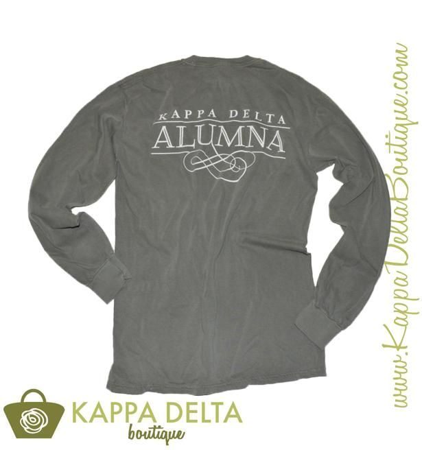This one's for the Alums! Embrace your Kappa Delta Roots in the Gray Nautilus Alumna Long Sleeve!
