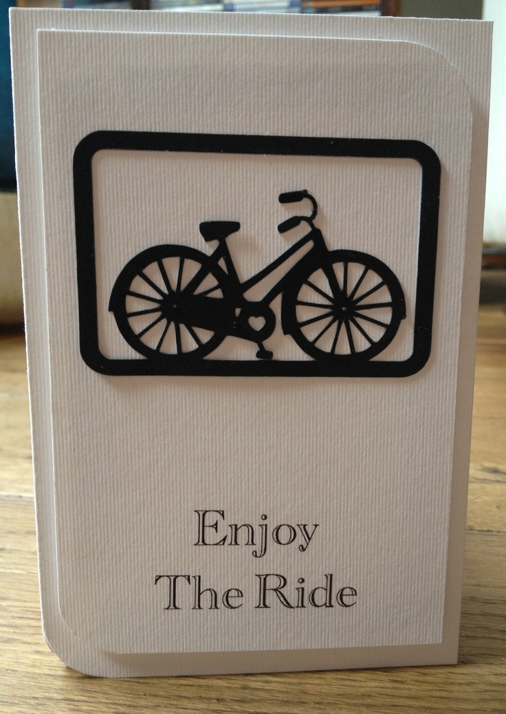 Silhouette bicycle card for Addicted to Stamps