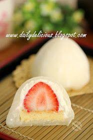 dailydelicious: 雪苺娘(ゆきいちご): Yuki Ichiko: Strawberry and cream Daifuku