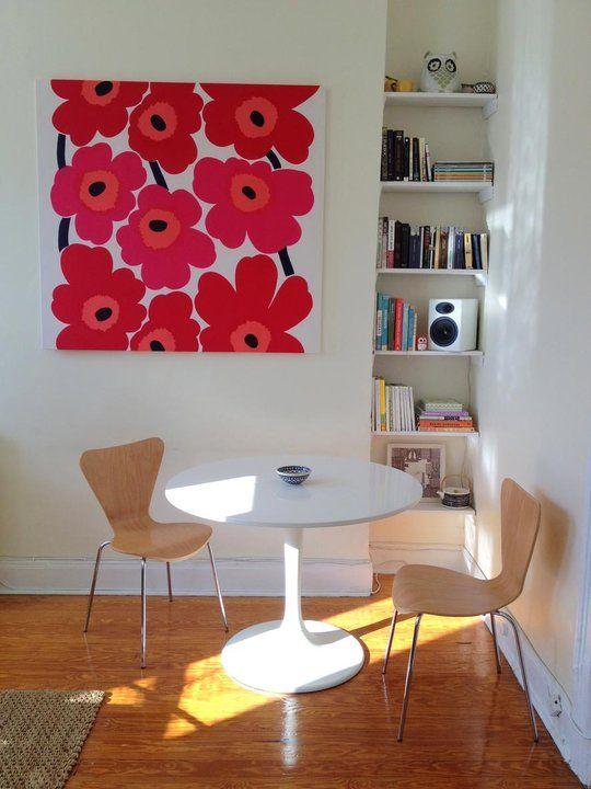 marimekko print, chairs