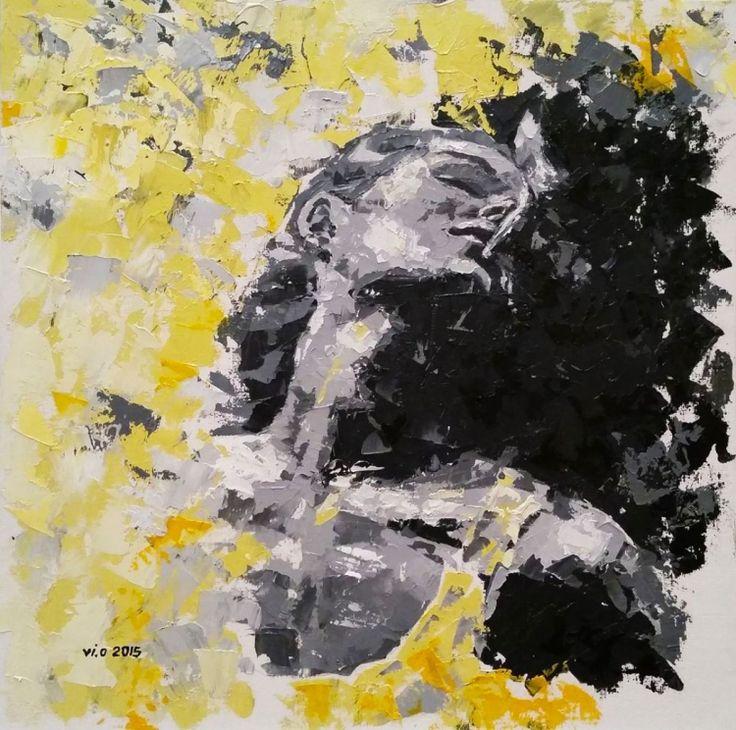 L'EMBRASSE (2015) Oil painting by Violeta Oprea | Artfinder
