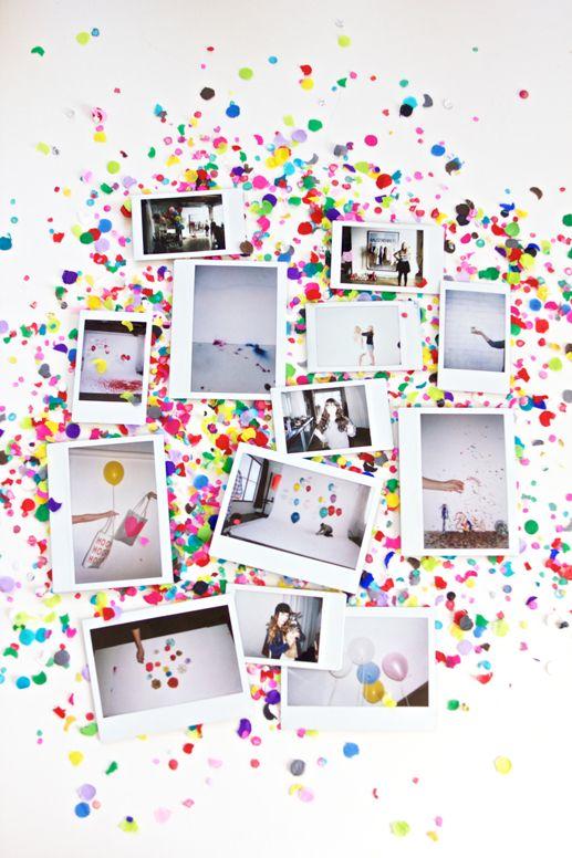 Confeti polaroids