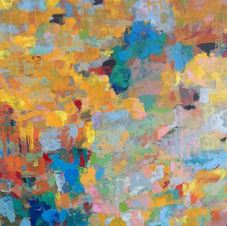 LAPLANCHE Abst #100 - 2016 Peinture à l'huile sur toile 60 x 60 cm  Oeuvre signée - Certificat d'authenticité   Prix: 1,700 €