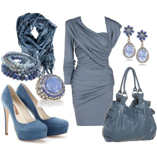 True Summer Blue, created by caty11 on Polyvore - the muted color could also work for Soft Summer