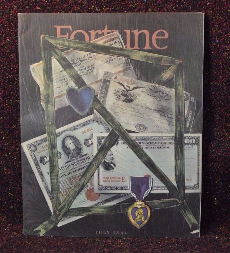 Fortune Magazine July 1944 Wartime World War 2 WWII Rubber Industry Automobiles