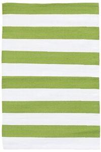 Dash & Albert Catamaran Stripe Sprout/White Indoor/Outdoor Rug