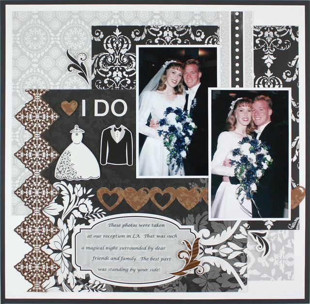I Do Divine Wedding Kit Scrapbooking Layout