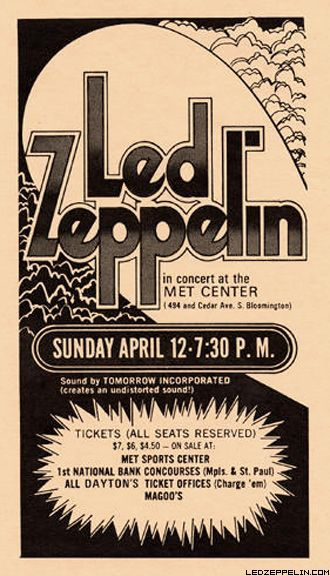 Led Zeppelin - Concert Poster #LedZeppelin #LedZep #Zep