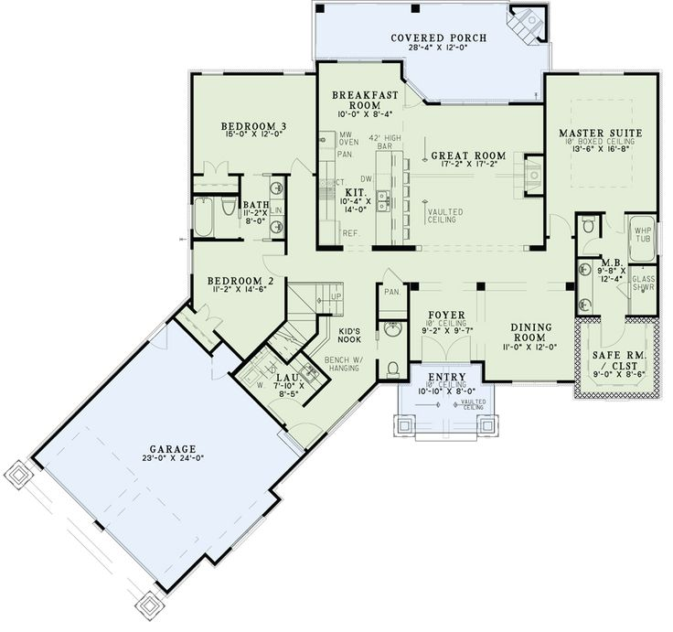 Nelson Design Group | House Plans|Design Services » Ouachita Falls Minor  Mods Needed,