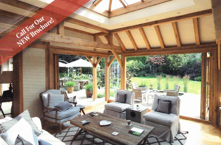 Prime Oak - more traditional wood extension with bifolds