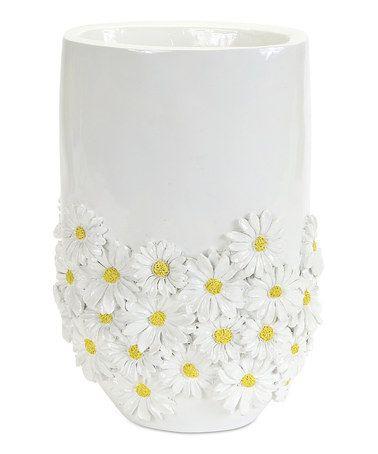 Loving this White Daisy Planter on #zulily! #zulilyfinds