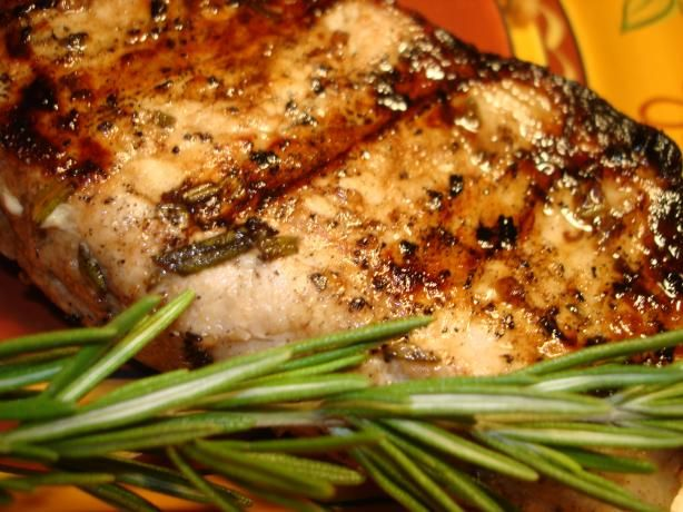 Grilled Rosemary Garlic Pork Chops from Food.com: A wonderful marinade for pork chops on the grill. Be sure to not overcook them.