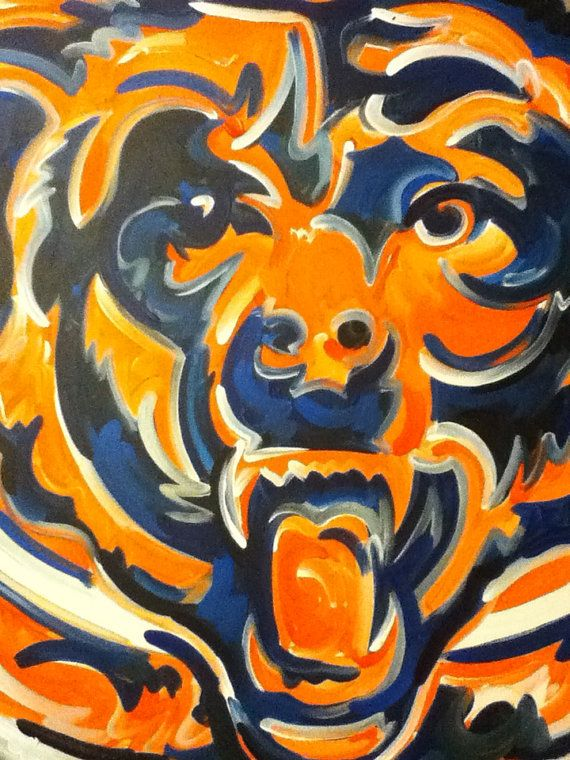 Chicago Bears Painting by Justin Patten Sports Art by stormstriker
