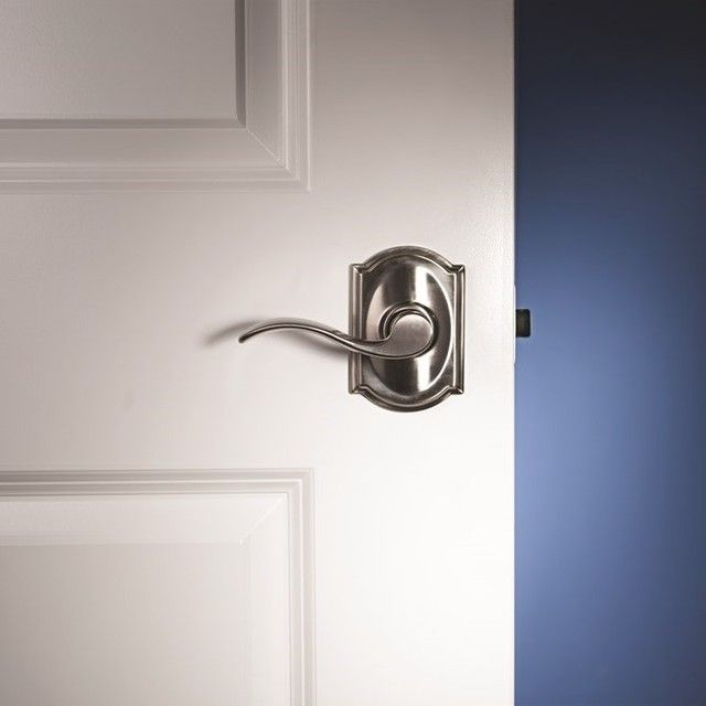 Always A Popular Combo You Can T Lose With An Accent Lever In Camelot Trim With Satin Nickel Finish Schlage Schlage Satin Nickel Nickel Finish
