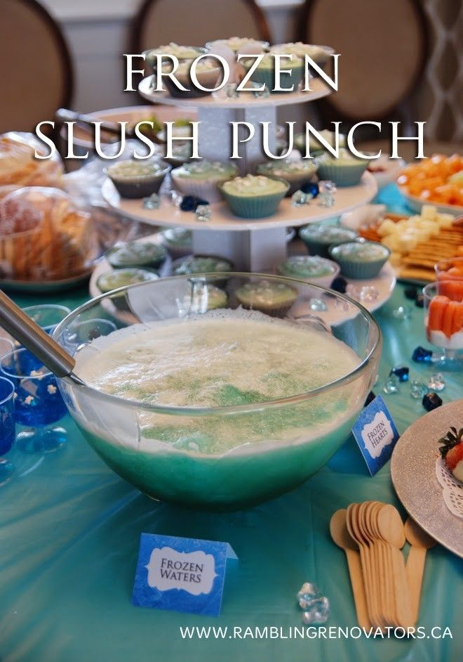 2014 Disney Frozen Inspired Slush Punch For Halloween