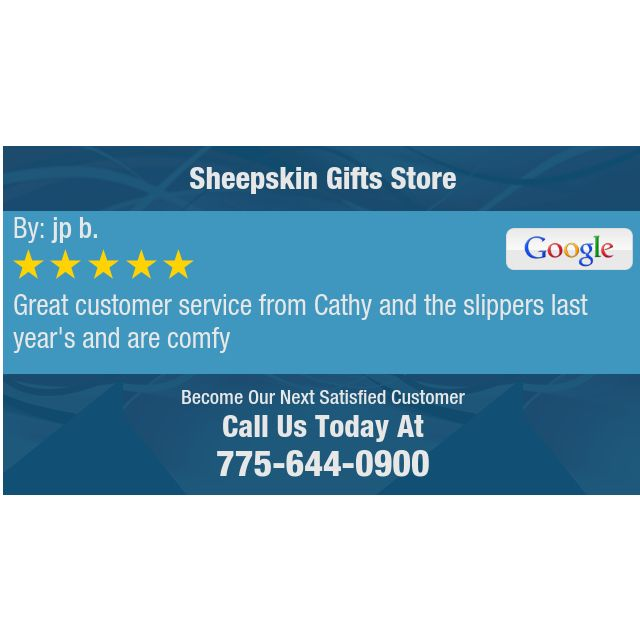 Great customer service from Cathy and the slippers last year's and are comfy