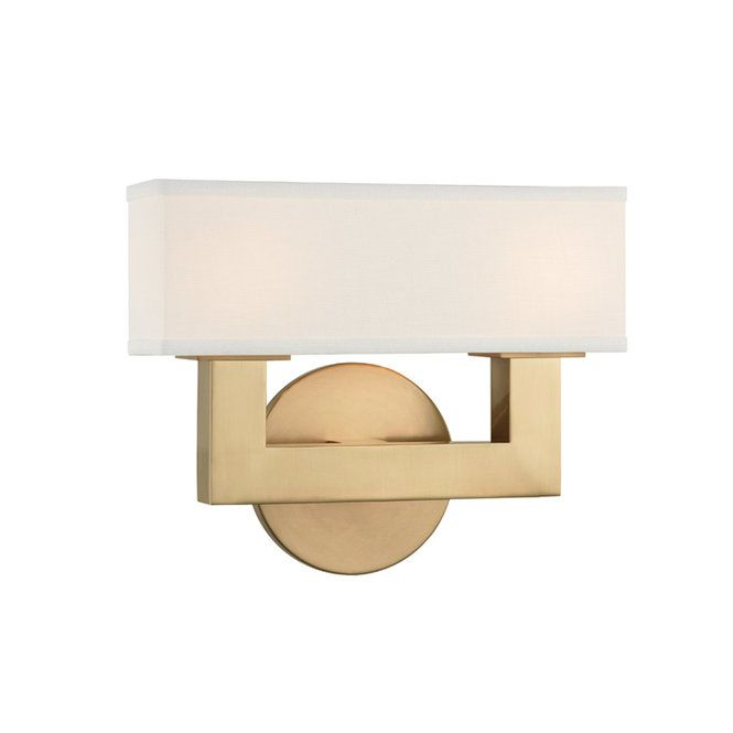 Linen Box Shade Sconce 2 Light Sconces Contemporary Wall