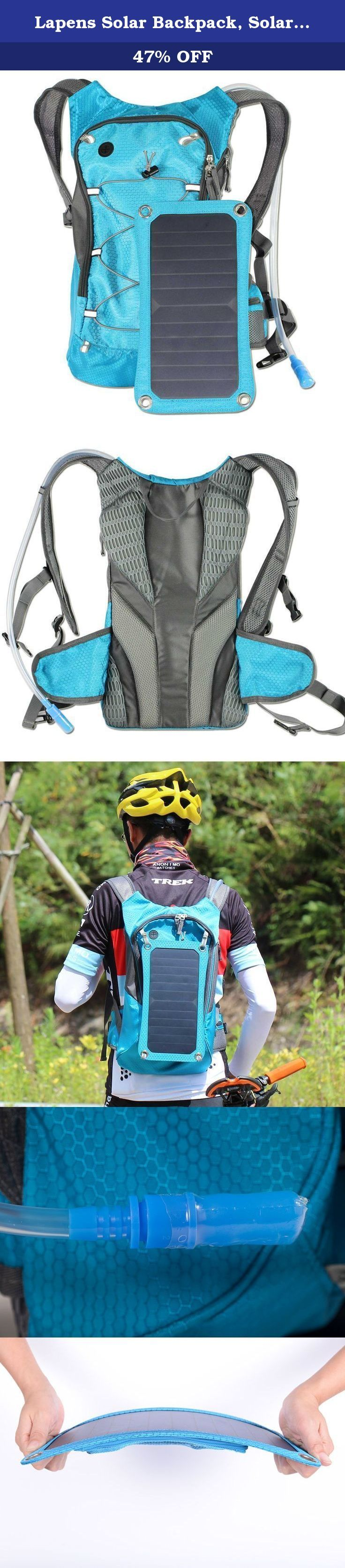 Lapens Solar Backpack, Solar Panel Bag,Outdoor Backpack Nylon Materials,Charge for Smart Cell Phones, eReaders, Speakers, Gopro Cameras and More LPSBP01-Be01. Lapens do everything you want ! Provide the best shopping online We have ten years of experience, to provide the most comfortable shoes and backbacks for you! Features a classic shape with several pockets for storage and organization. This backpack has a roomy main compartment, with enough space to store other accessories like...