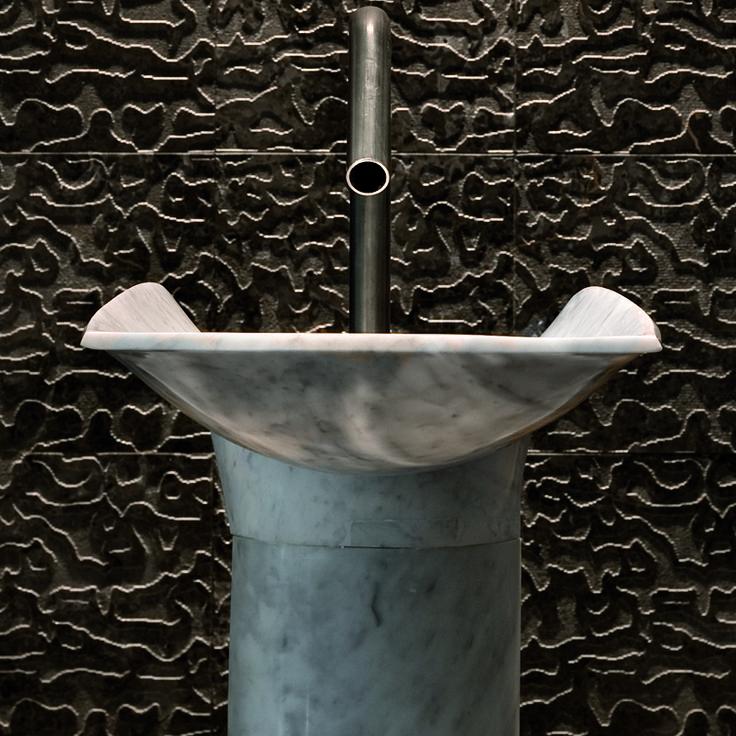 Hand made stone basin  by Urban Edge Ceramics