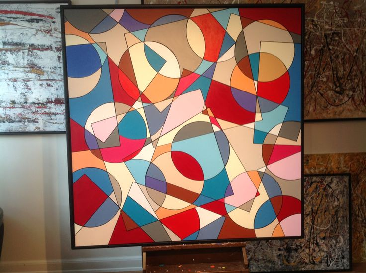 CIRCLE AND SQUARE BY FINNERMANN 150 X 150 CM AKRYL.