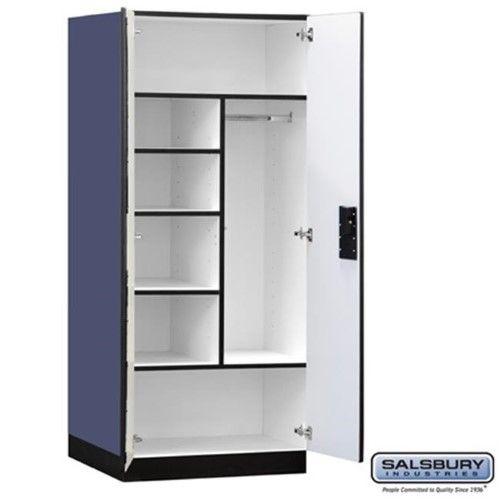 Salsbury 3274blu Designer Wood Storage, 24 Inch Deep Storage Cabinets