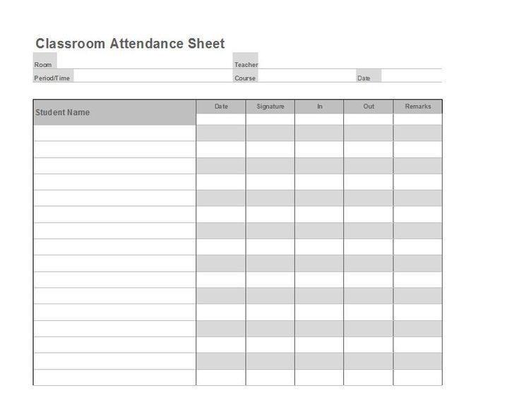 Attendance Sheet Template Word  NodeCvresumePaasproviderCom