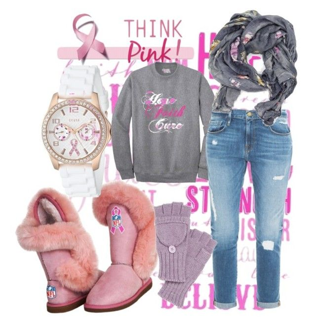 """""""CancerAwareness"""" by shameera86 on Polyvore featuring GUESS, Frame Denim and Echo"""