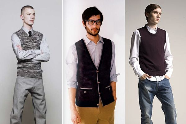 Men in sweater vests are like kryptonite for me.