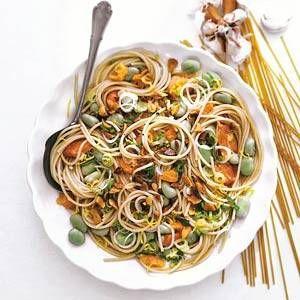 Spaghetti Met Tuinbonen En Zalm recept | Smulweb.nl