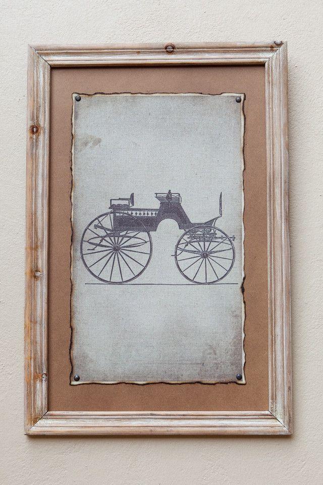 Natural Framed Print Carriage II