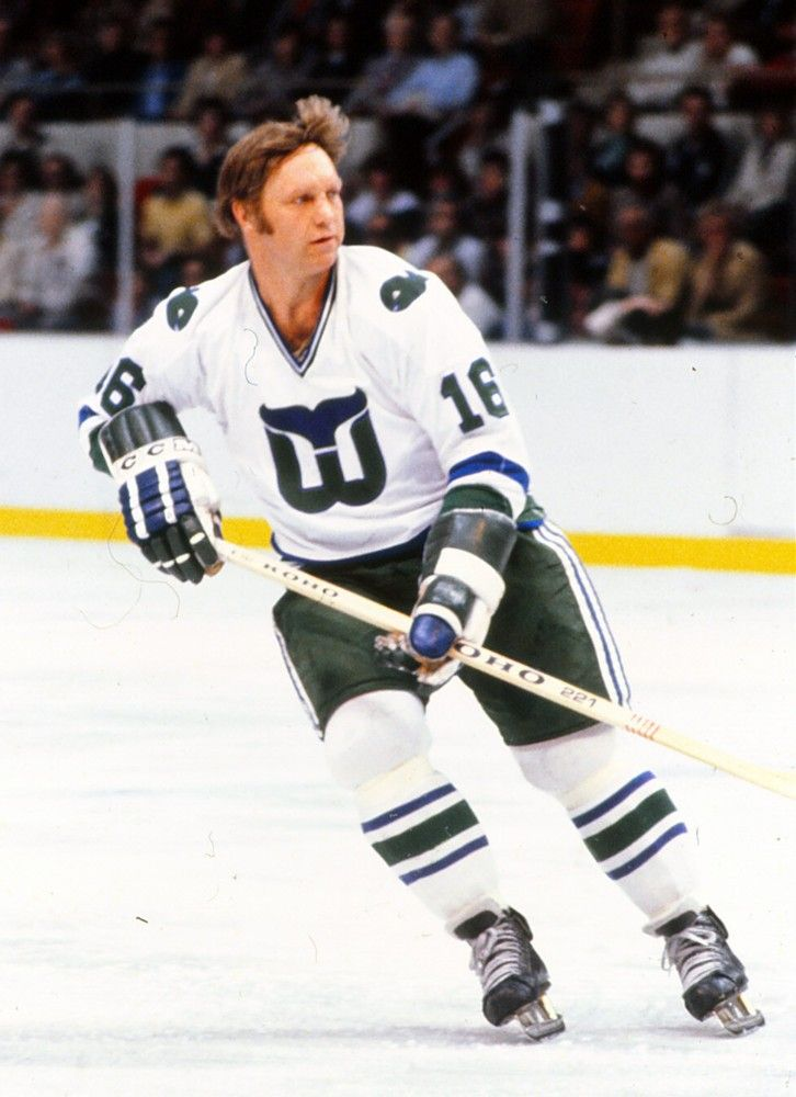 Bobby Hull finished out his NHL career as a member of the Hartford Whalers.