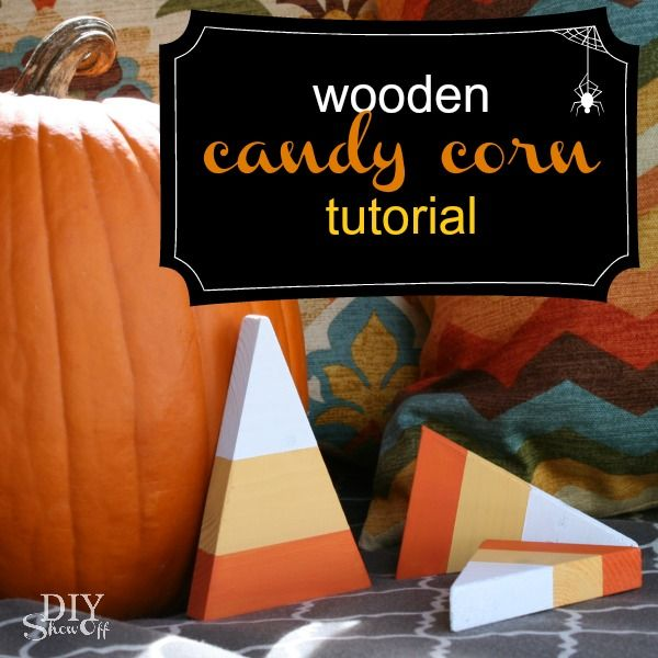 diy halloweenfall craft decorative wooden candy corn pieces - Candy Corn Halloween Decorations